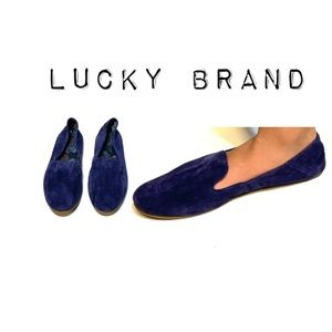 Lucky Brand Velvet Suede Leather Flats